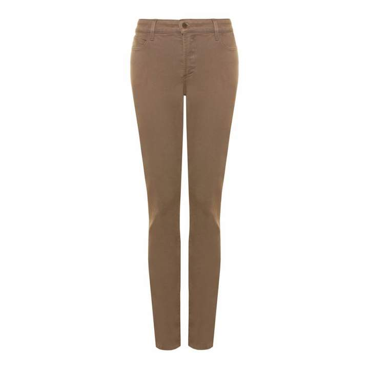 Light Brown Alina Cotton Stretch Jeggings