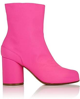 Maison Margiela Women's Tabi Leather Ankle Boots - Md. Pink