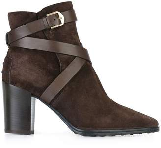 Tod's strapped ankle boots