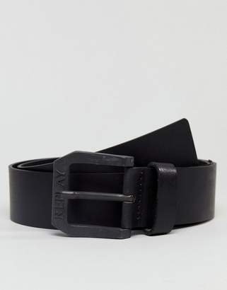 Replay Black Leather Belt