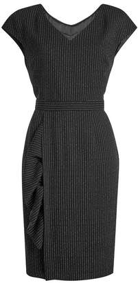 Moschino Virgin Wool Dress with Pinstripes