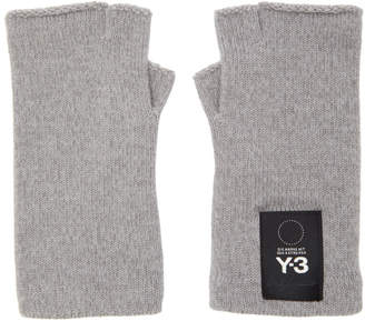 Y-3 Y 3 Grey Logo Gloves