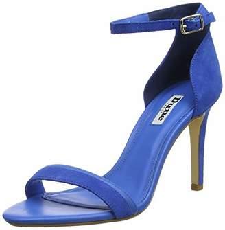 Dune Women's Merino Ankle Strap Heels, Blue-Suede, 6 (39 EU)