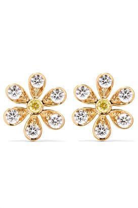 Sophie Bille Brahe Marguerite 18-karat Gold Diamond Earrings