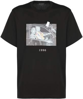 Throw Back 2pac Shootout Print T-shirt