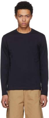 Comme des Garcons Navy Long Sleeve Basic T-Shirt