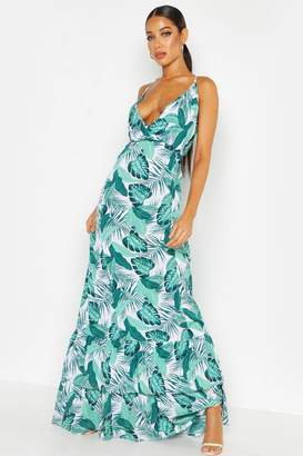 8539048b596 boohoo Green Print Maxi Day Dresses - ShopStyle UK