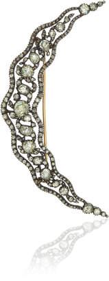Fred Leighton Antique Rose-Cut Diamond Crescent Brooch