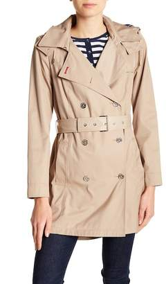 Tommy Hilfiger Trapunto Hooded Trench Coat