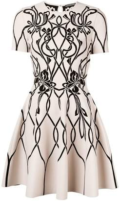 Alexander McQueen jacquard knitted dress