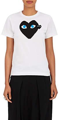Comme des Garcons Women's Heart Cotton Jersey T-Shirt - White