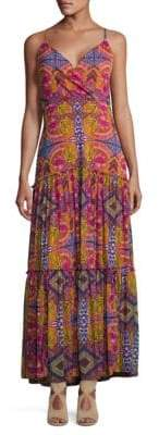 Taylor Jersey Mesh Kalediscope Maxi Dress