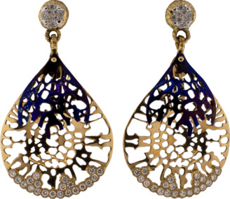 FEDERICA RETTORE Gorgonia Diamond And Titanium Earrings