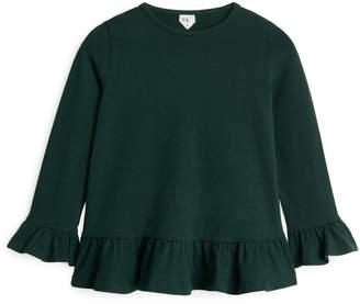Arket Long-Sleeve Frill Top