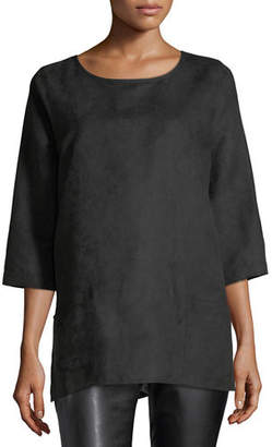 Caroline Rose Modern Faux-Suede Two-Pocket Tunic, Petite
