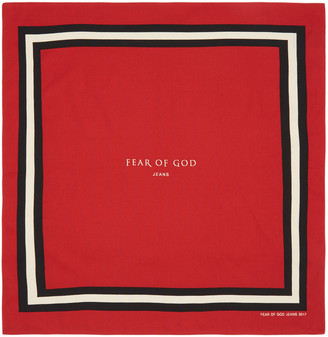 Fear of God Red Logo Bandana $295 thestylecure.com