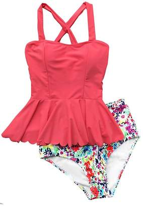 d989e058cd823 at Amazon Canada · Moore Womens 2 Piece Floral Push-up Padded Tankini High  Waisted Skirtini Swimsuit (XXL