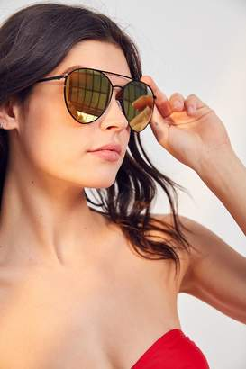 Quay X Jasmine Sanders Indio Metal Sunglasses $65 thestylecure.com