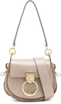 Chloé Small Tess Shiny Calfskin Shoulder Bag in Motty Grey | FWRD