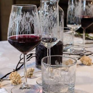 Emma Britton Decorative Glass Designer Floral Glass Wine Glasses Set Of Six