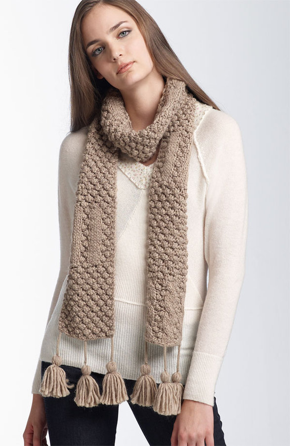 Tarnish Chunky Knit Tassel Scarf