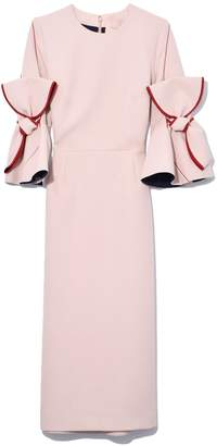 Roksanda Lavete Dress in Nuggat/Bordeaux