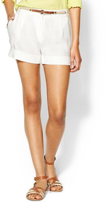MICHAEL Michael Kors Linen Short With Belt