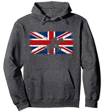 British Flag Horse Polo Hoodie Vintage Union Jack Sweatshirt
