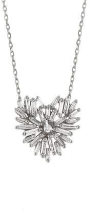 Suzanne Kalan Diamond Angel Heart Necklace - White Gold