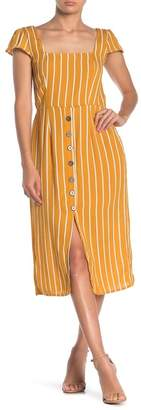 Rowa ROW A Striped Open Back Midi Dress