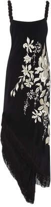 Johanna Ortiz Focus And Flower Embroidered Silk Maxi Dress Size: 2