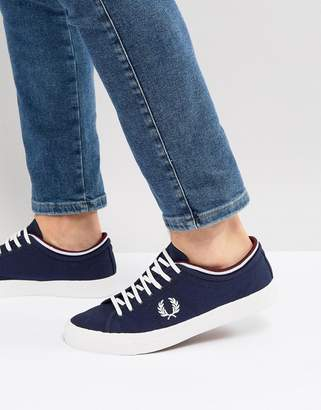 Fred Perry Kendrick Canvas Sneakers In Navy