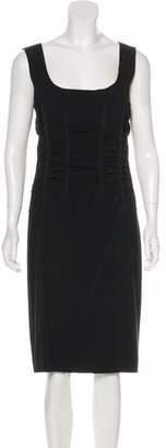 Dolce & Gabbana Crepe Ruched Dress