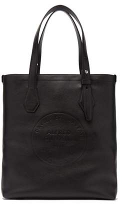Dunhill Chiltern Logo Debossed Leather Tote - Mens - Black