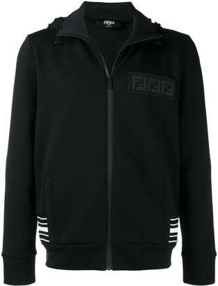 Fendi logo zipped hoodie