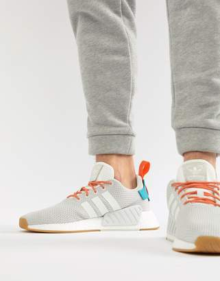 adidas NMD R2 Boost Summer Sneakers In White CQ3080