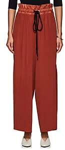 AKIRA NAKA Women's Accordion-Pleated Wide-Leg Pants-Brown