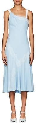 Prabal Gurung Women's Lace-Trimmed Crepe Asymmetric Dress