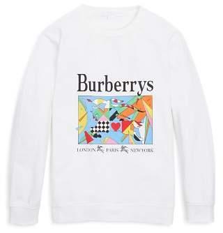 Burberry Unisex Patchwork Graphic Shirt - Little Kid, Big Kid