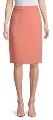 Escada Ravette Wool Pencil Skirt