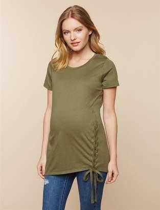 Motherhood Maternity Side Lace Up Maternity Tee