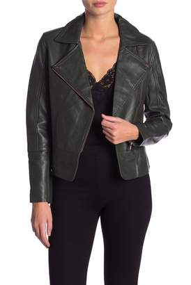 Ted Baker Minimal Leather Biker Jacket