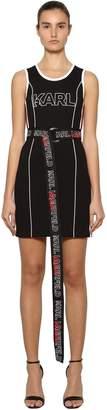 Karl Lagerfeld X Kaia Stretch Jersey Mini Dress