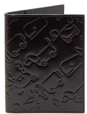 Thom Browne Toy Icon Leather Passport Holder - Mens - Black