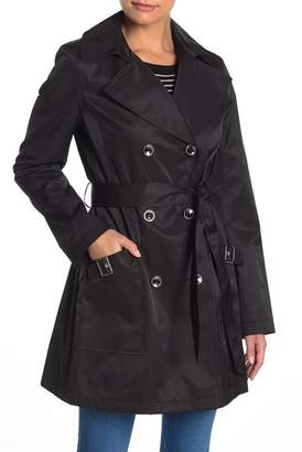 Via Spiga Double Breasted Belted Trench Coat