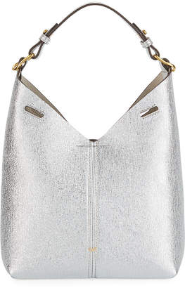 d6f82a14001 Anya Hindmarch Build A Bag Mini Crinkled Metallic Hobo Bag, Silver