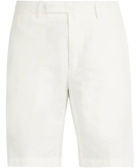 Privee Salle Salle Steven Cotton Blend Chino Shorts - Mens - White