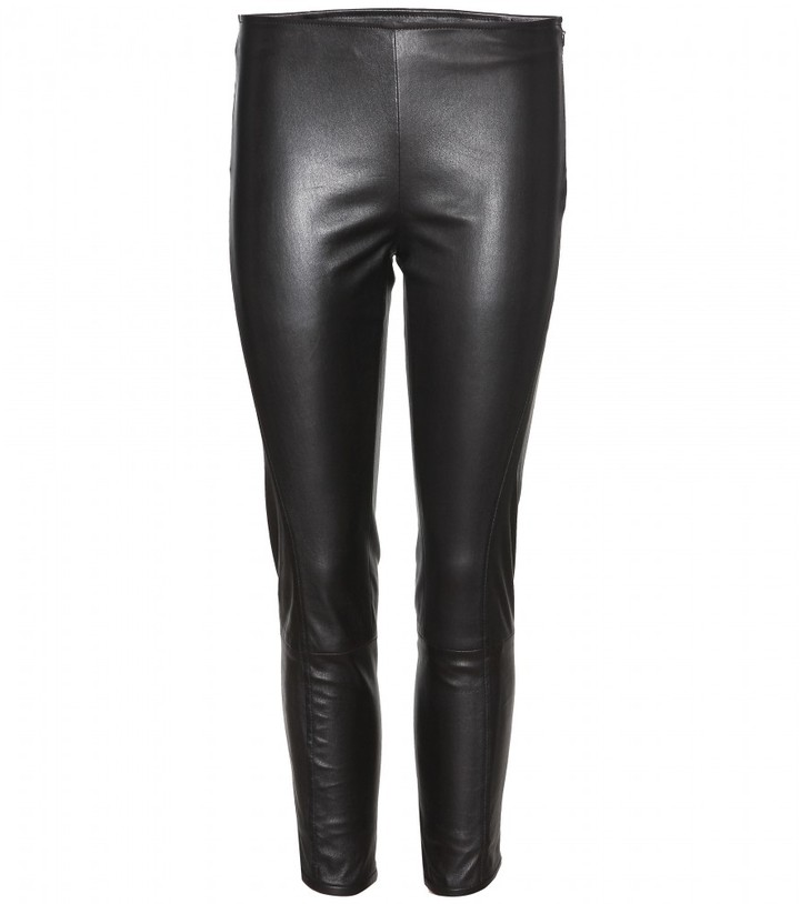 The Row NOJAC CROPPED LEATHER LEGGINGS