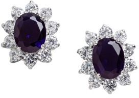 Lord & Taylor Cubic Zirconia and Sterling Silver Post-Back Earrings