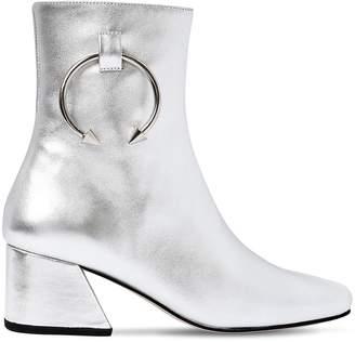 50mm Pierce Metallic Leather Ankle Boot